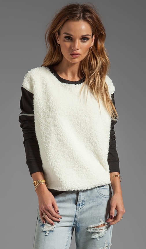 Faux Fur Front Sweatshirt