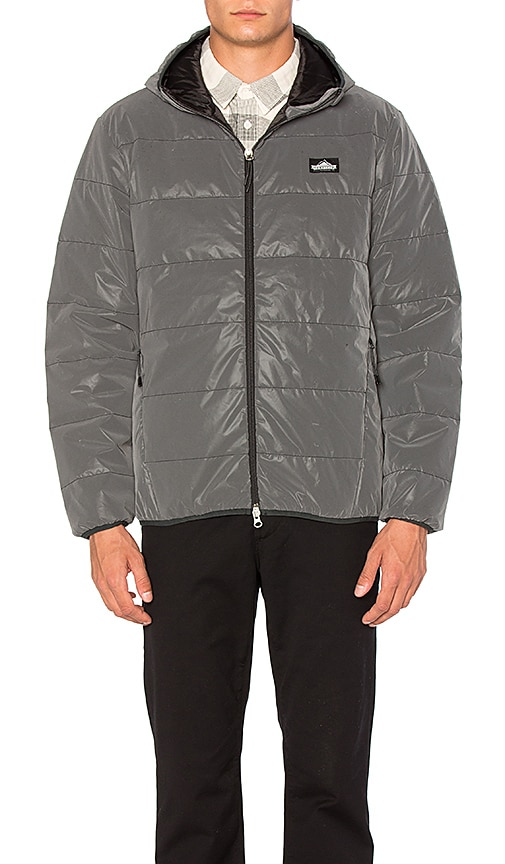 Penfield Makinaw Reflective Packable Down Jacket in Charcoal