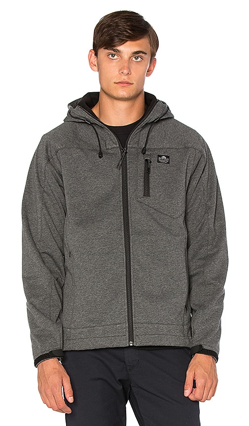 Penfield Fordfields Soft Shell Hooded Jacket in Grey