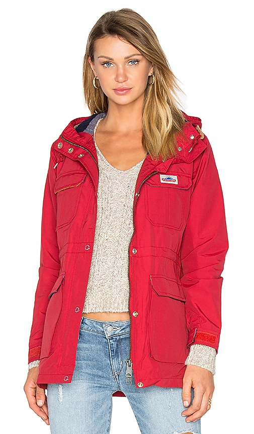 Penfield Kasson Hooded Mountain Parka in Red