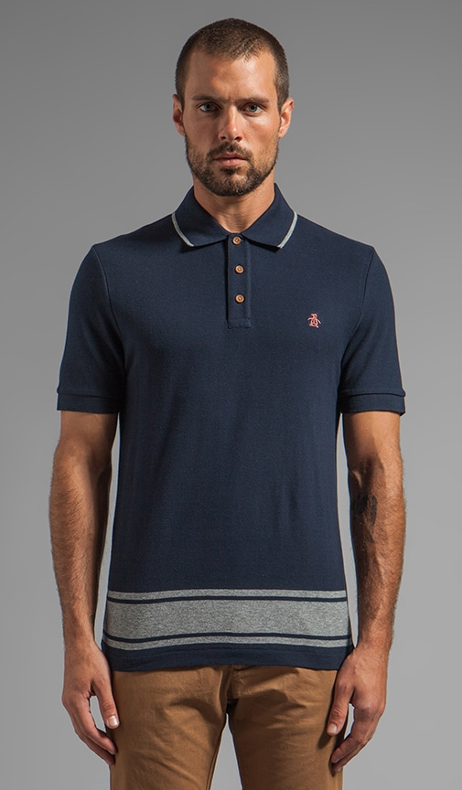 Engineered Stripe Hem Polo