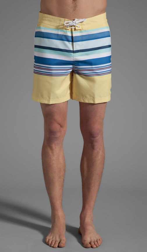 Printed Fixed Waist Volley Swim Short