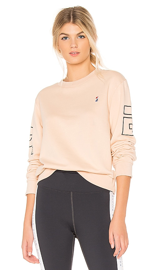 P.E Nation Moneyball Sweatshirt in Peach