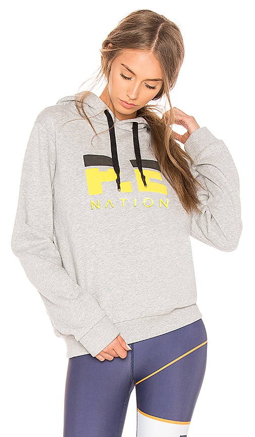 P.E Nation Yale Squad Sweatshirt in Gray