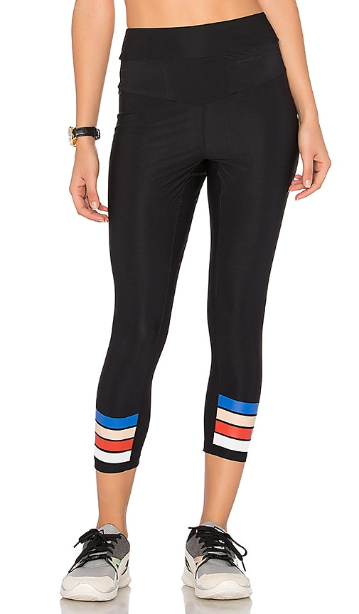 P.E Nation The Scoop Cropped Legging in Black