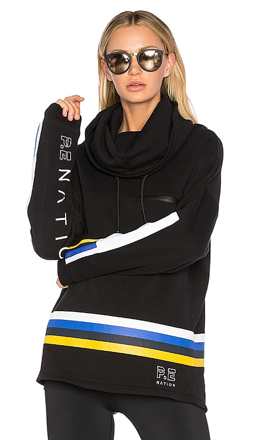 P.E Nation Delta Time Hoodie in Black