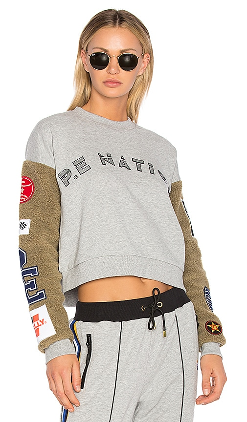 P.E Nation Box Out Sweatshirt in Gray