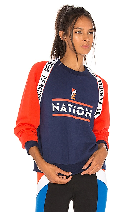 P.E Nation The Wembley Sweatshirt in Navy