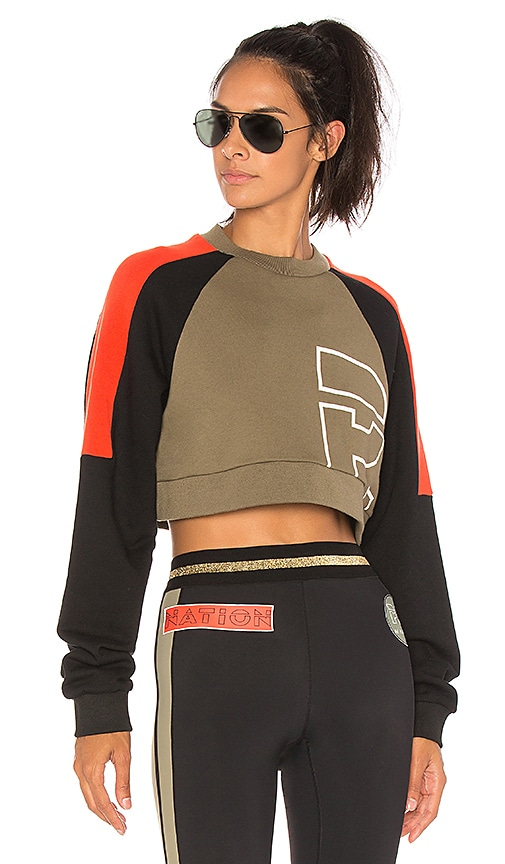 P.E Nation All Rounder Sweatshirt in Black