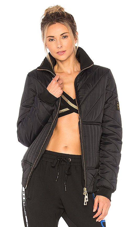 P.E Nation Roll On Quilted Jacket in Black
