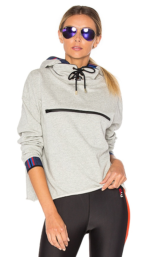 P.E Nation Blind Pass Marl Hoodie in Grey