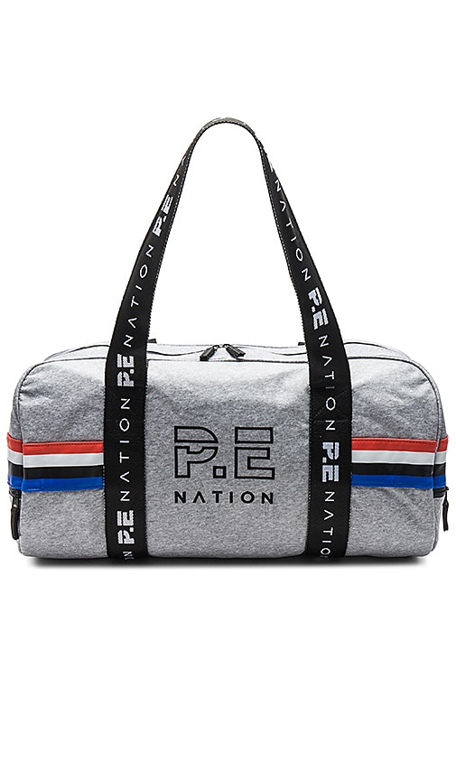 P.E Nation Final Round Duffle Bag in Gray