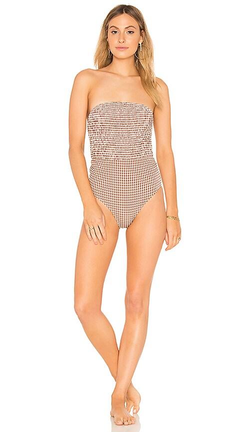 Peony Swimwear One Piece in Tan