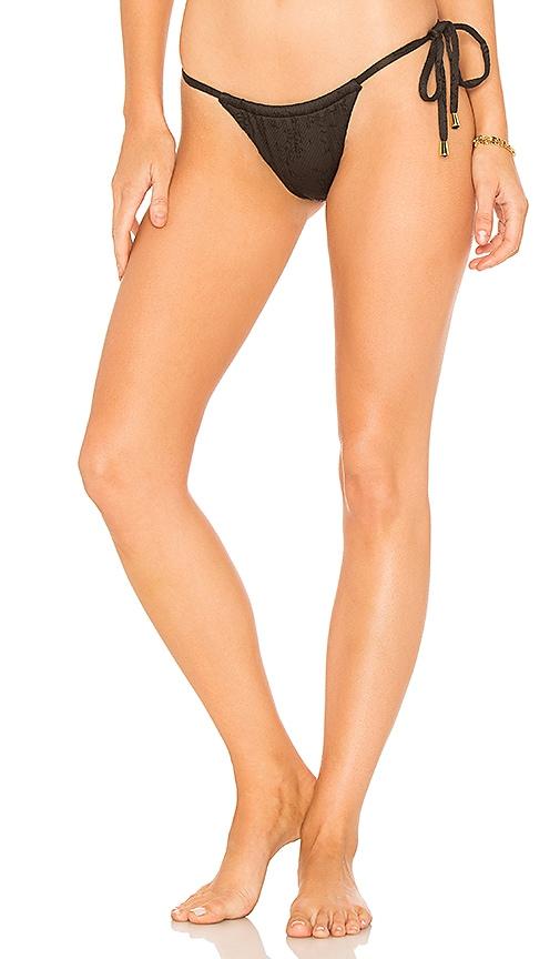Peony Swimwear Sun Bikini Bottom in Black