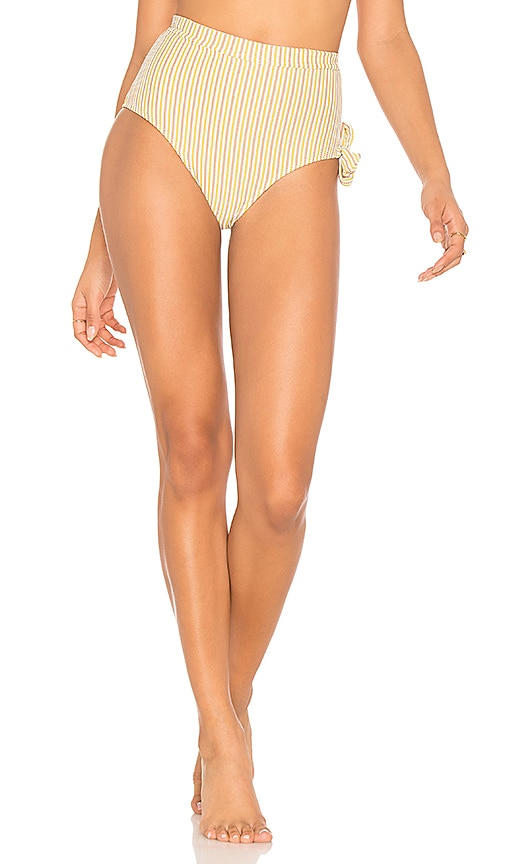 Peony Swimwear Hi Waist Bikini Bottom in Pink
