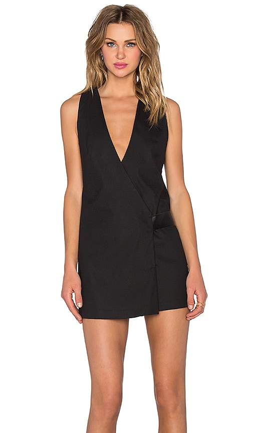 PFEIFFER Viper Wrap Dress in Black
