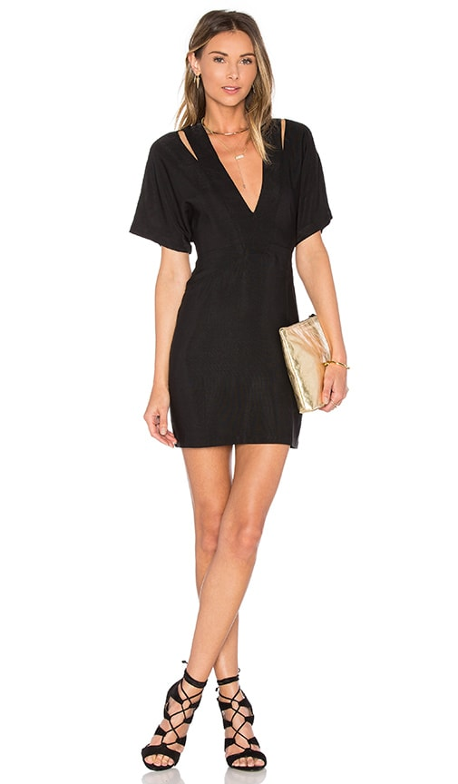 PFEIFFER Echo Cut Out Dress in Black