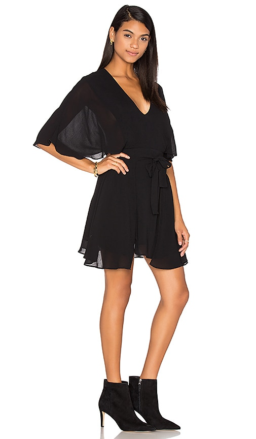 PFEIFFER The Ray Wrap Dress in Black