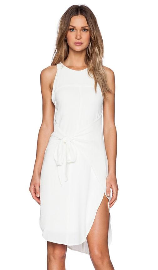 PFEIFFER New Wave Wrap Dress in Ivory