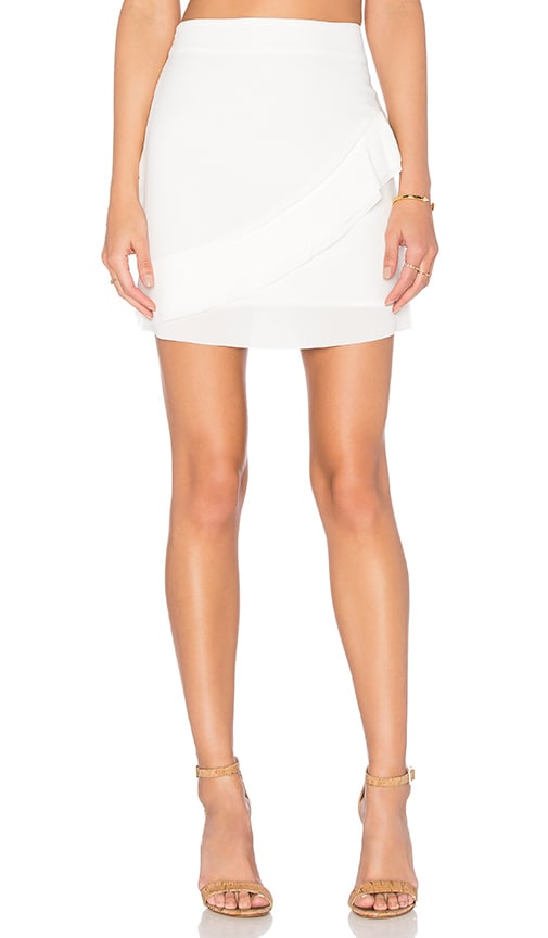 PFEIFFER Rapture Mini Skirt in White