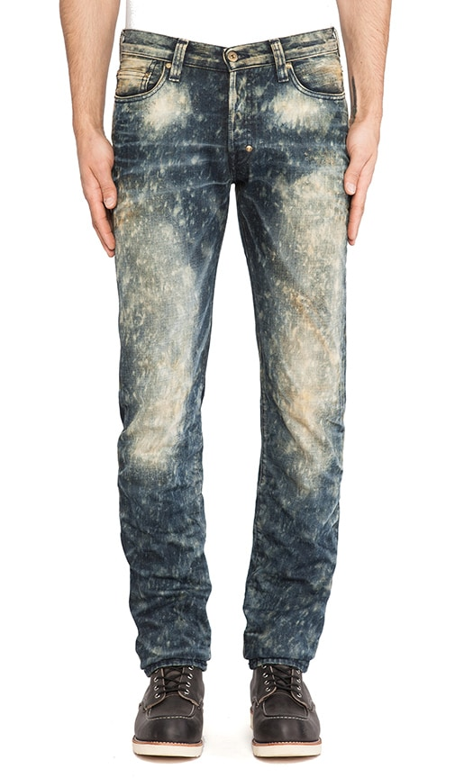 Dark Dirty Bleach Jean