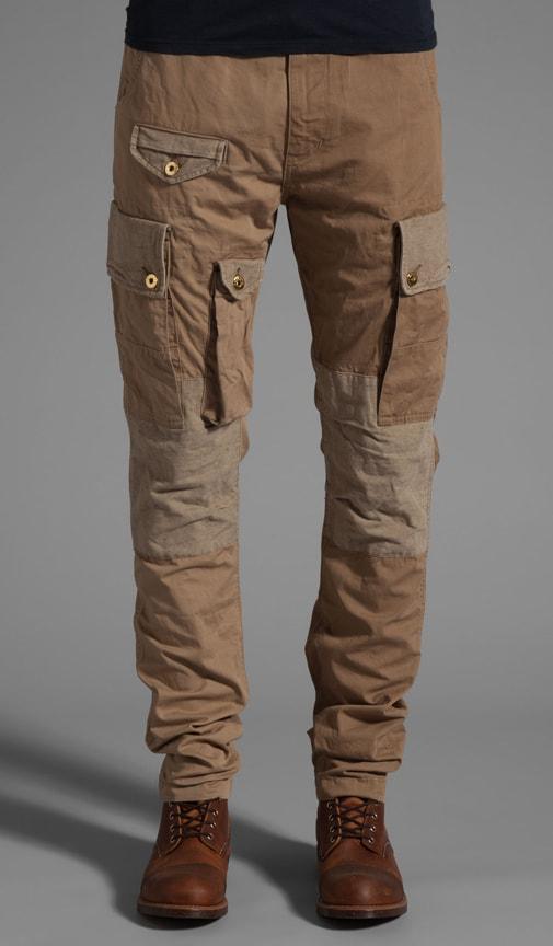 Khaki Patchwork Pant