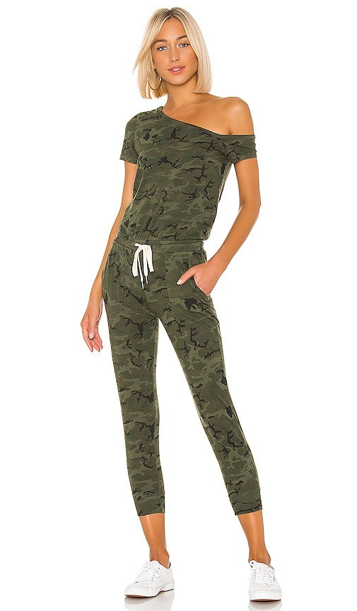 N:philanthropy Women's Britton One-shoulder Camo Jumpsuit In Moss Multi Camo