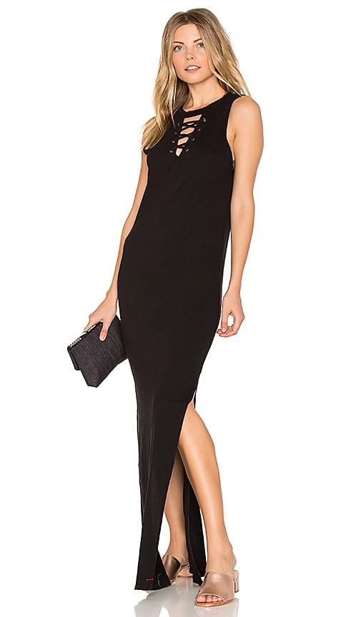 n:PHILANTHROPY Wayne Lace Up Dress in Black