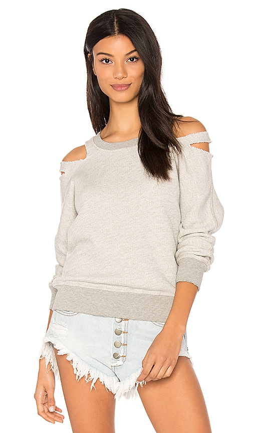 n:PHILANTHROPY Minerva Cut Out Sweatshirt in Gray