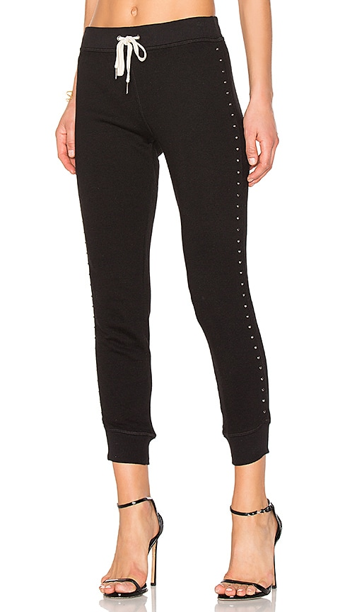 n:PHILANTHROPY Flora Studded Sweatpant in Black