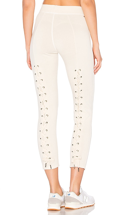 n:PHILANTHROPY Reiko Lace Back Sweatpant in Ivory
