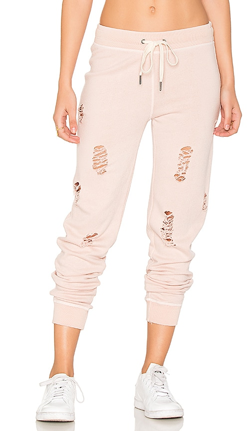 n:PHILANTHROPY Nikki Distressed Sweatpant in Pink