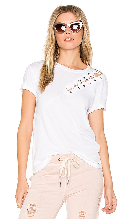 n:PHILANTHROPY Gaia Lace Front Tee in White