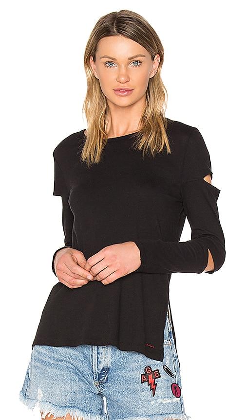 n:PHILANTHROPY Gloria Long Sleeve Cutout Top in Black