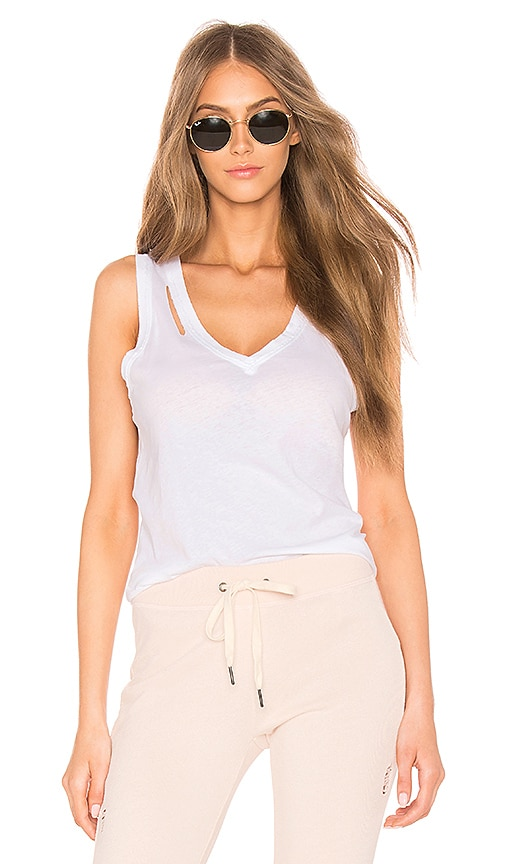 n:PHILANTHROPY Pepper V-Neck Tank in White