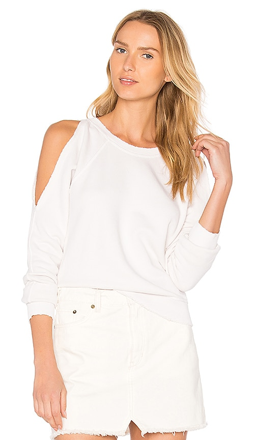 n:PHILANTHROPY Star Cut Out Top in White