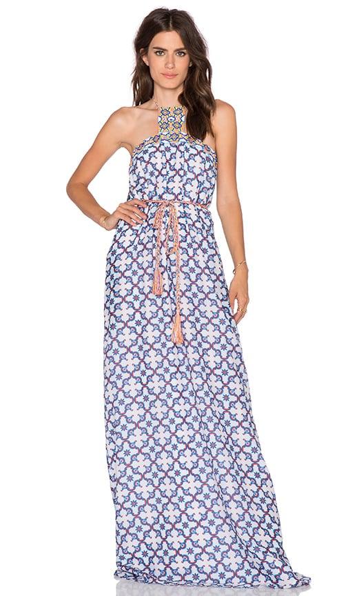 Pia Pauro Patterned Maxi Dress in Stromboli