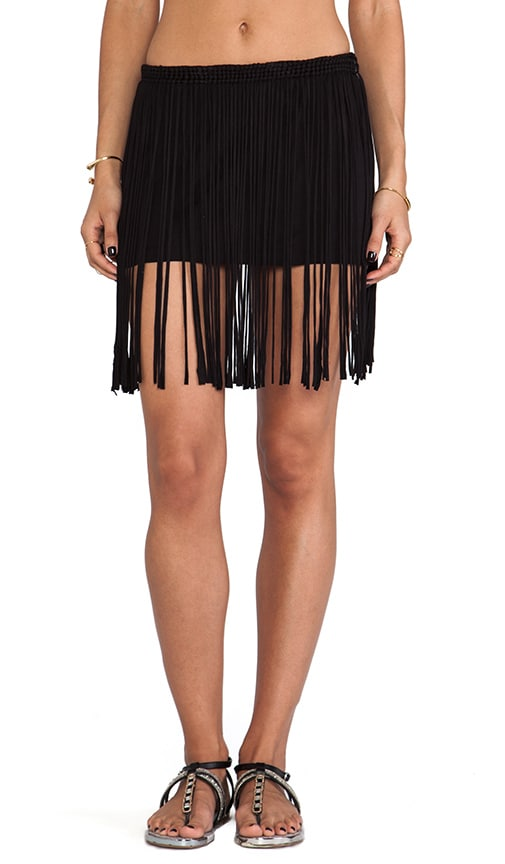 Lounge Fringe Skirt with mini