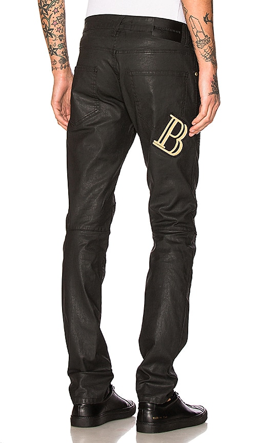 Pierre Balmain Jeans in Black Coated