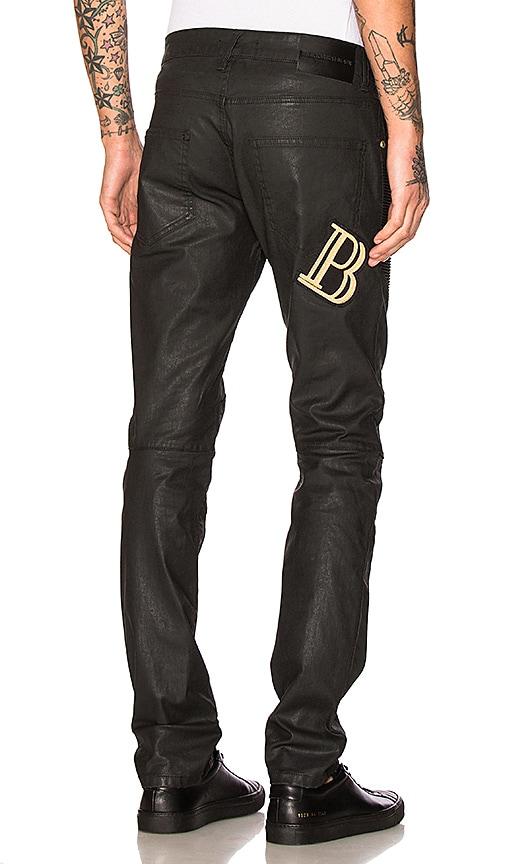 Pierre Balmain Jeans in Black Coated