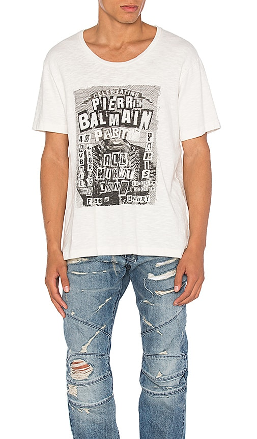 Pierre Balmain Graphic Tee in White
