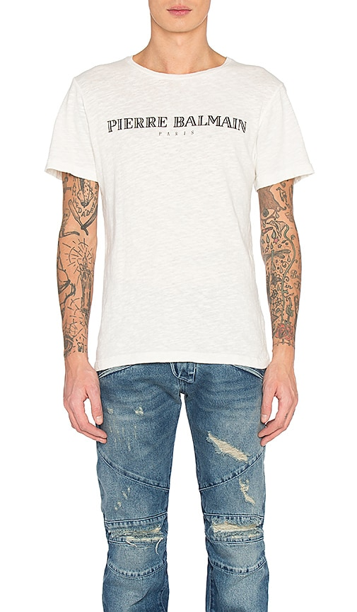 9f9f79e21d2 Pierre Balmain Tee in Off White | REVOLVE