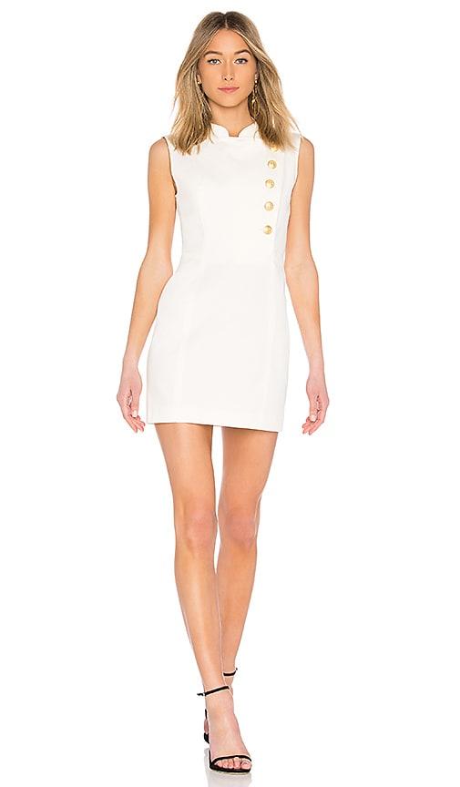 Pierre Balmain Military Button Down Mini Dress in White