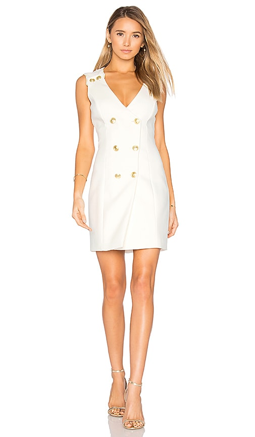 Pierre Balmain Double Breasted Wrap Dress in White