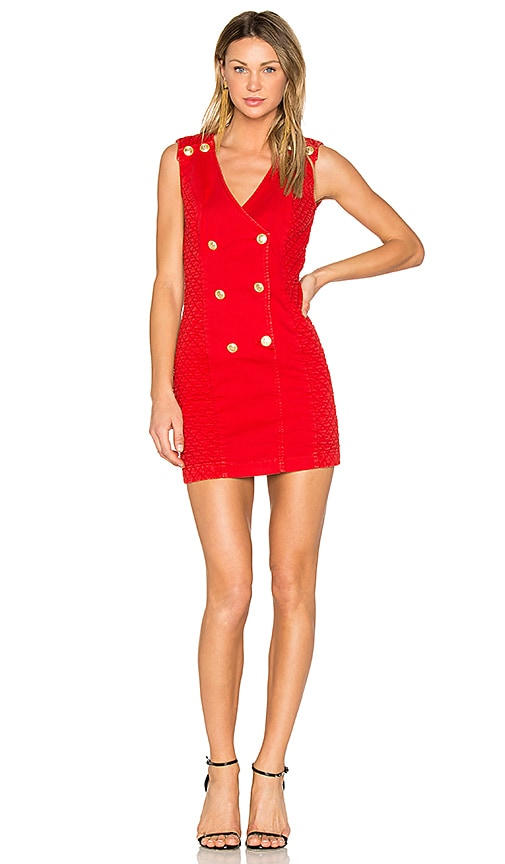 Pierre Balmain Double Breasted Dress in Red