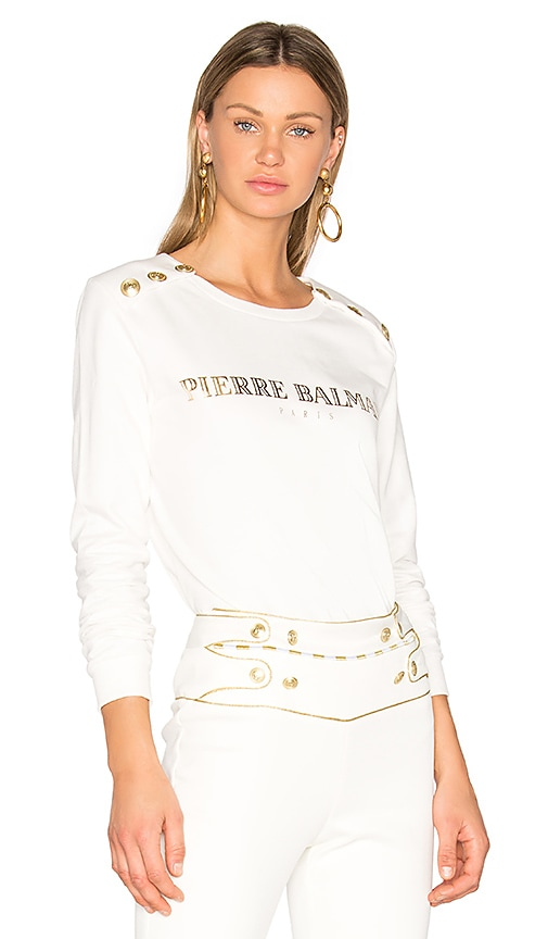 Pierre Balmain Sweatshirt in White