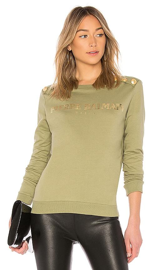 Pierre Balmain Logo Sweatshirt in Army