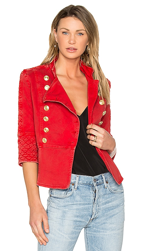 dbc6e9df10 Pierre Balmain Military Jacket in Red Vintage | REVOLVE