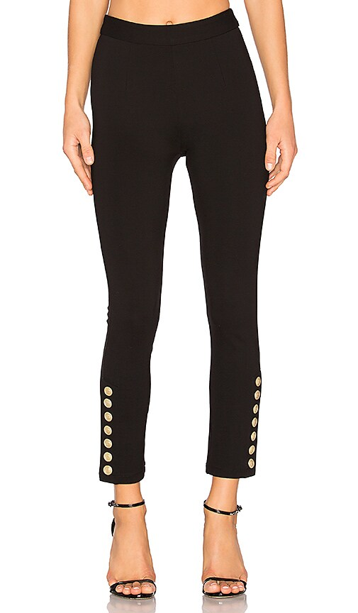 Pierre Balmain Military Skinny Pant in Black