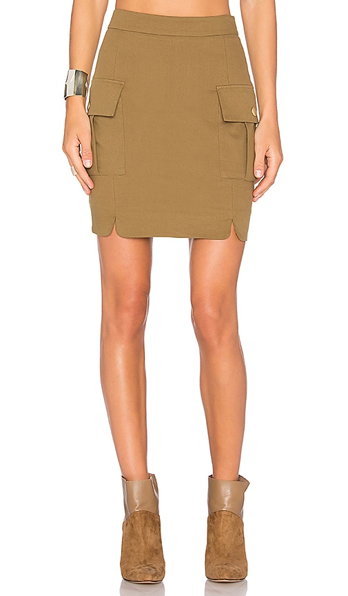 Pierre Balmain Pocket Skirt in Tan